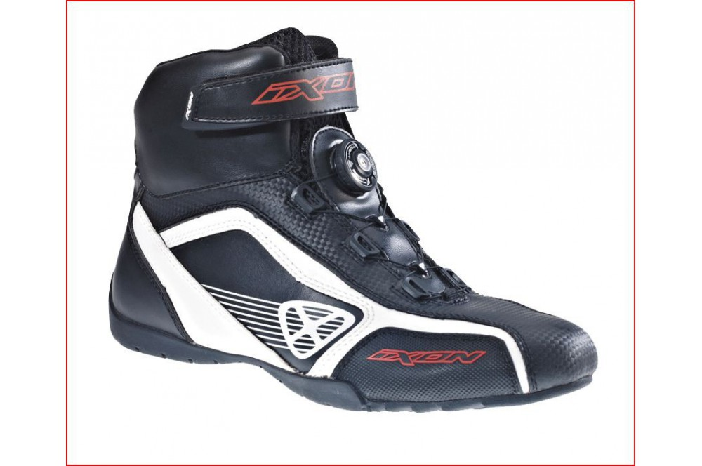 Chaussure Racing Moto Ixon Assault Noir - Blanc - Rouge