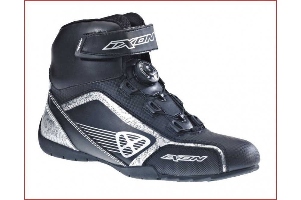 Chaussure Racing Moto Ixon Assault Lady Noir - Gris