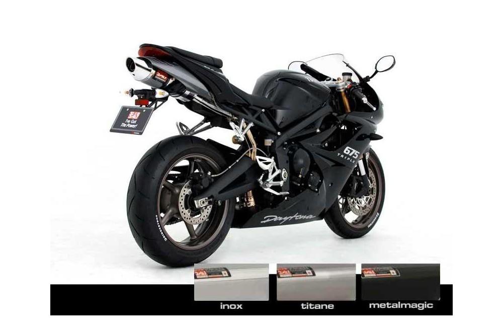 silencieux moto yoshimura oval cone pour daytona 675 09 12 moto