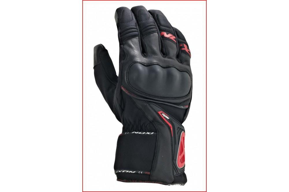 gants moto hiver ixon pro apex 2 hp noir rouge street moto piece. Black Bedroom Furniture Sets. Home Design Ideas