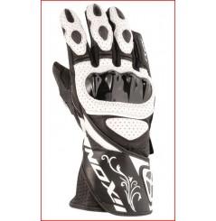 Gants Femme Racing Moto Ixon Rs Chicane Hp Noir - Blanc