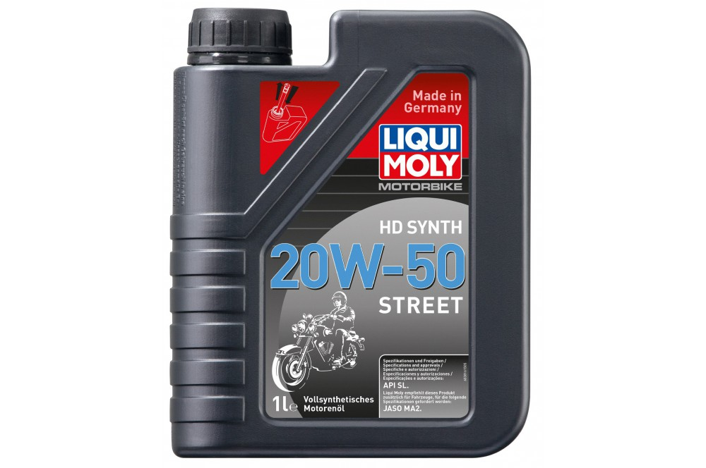 huile moto liqui moly hd 20w50 motorbike 100 synth se 1 litre street moto piece. Black Bedroom Furniture Sets. Home Design Ideas