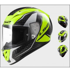 Casque Moto LS2 FF323 ARROW C FURY Carbone - Jaune
