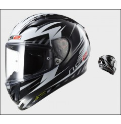 Casque Moto LS2 FF323 ARROW R MATRIX Noir - Blanc