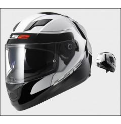 Casque Moto LS2 FF320 STREAM LUNAR Blanc - Noir
