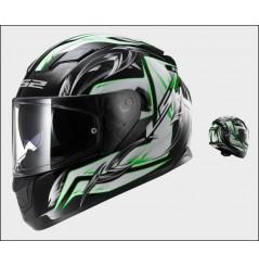 Casque Moto LS2 FF320 STREAM STEEL Noir - Blanc - Vert