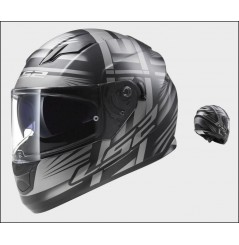 Casque Moto LS2 FF320 STREAM BANG Noir Mat - Titanium