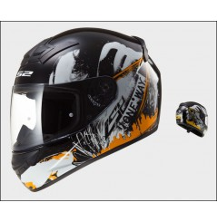 Casque Moto LS2 FF352 ROOKIE ONE Noir - Orange