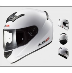 Casque Moto LS2 FF352 ROOKIE SOLID Blanc