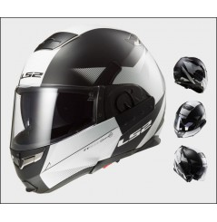 Casque Moto Modulable LS2 FF393 CONVERT HAWK Noir Mat - Blanc