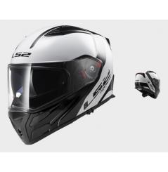 Casque Moto Modulable LS2 FF324 METRO RAPID Noir - Blanc