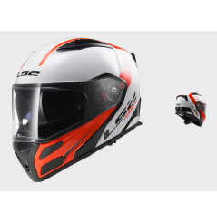 Casque Moto Modulable LS2 FF324 METRO RAPID Noir - Blanc - Rouge