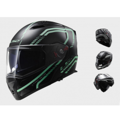 Casque Moto Modulable LS2 FF324 METRO RAPID Noir - Luminescent