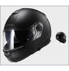 Casque Moto Modulable LS2 FF325 STROBE SOLID Noir Mat