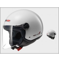 Casque Jet Moto LS2 OF560 ROCKET 2 SOLID Blanc