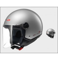 Casque Jet Moto LS2 OF560 ROCKET 2 SOLID Gris