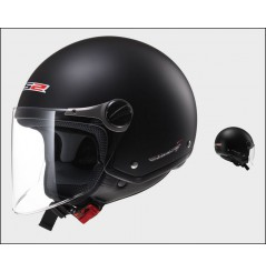 Casque Jet Moto LS2 OF560 ROCKET 2 SOLID Noir Mat