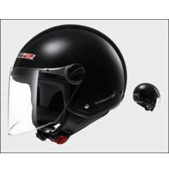 Casque Jet Moto LS2 OF560 ROCKET 2 SOLID Noir