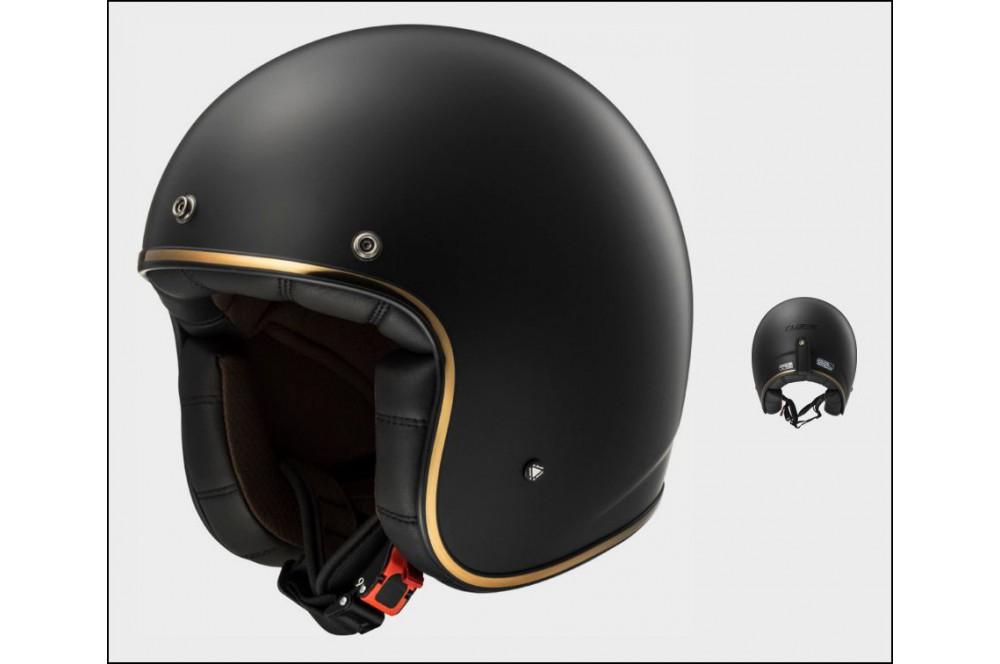 casque jet moto ls2 of583 bobber solid noir mat street moto piece. Black Bedroom Furniture Sets. Home Design Ideas