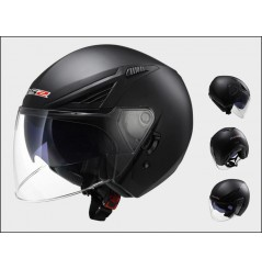 Casque Jet Moto LS2 OF586 BISHOP SOLID Noir Mat