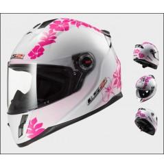 Casque Moto LS2 FF392J KID VANITY Blanc - Rose