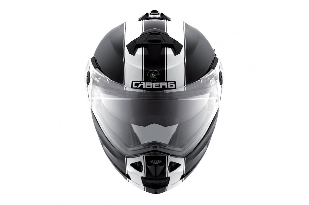 Casque Moto Modulable CABERG DUKE LEGEND Noir - Blanc