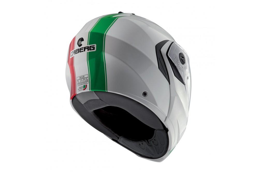 Casque Moto Modulable CABERG DUKE LEGEND ITALIA Vert - Blanc - Rouge