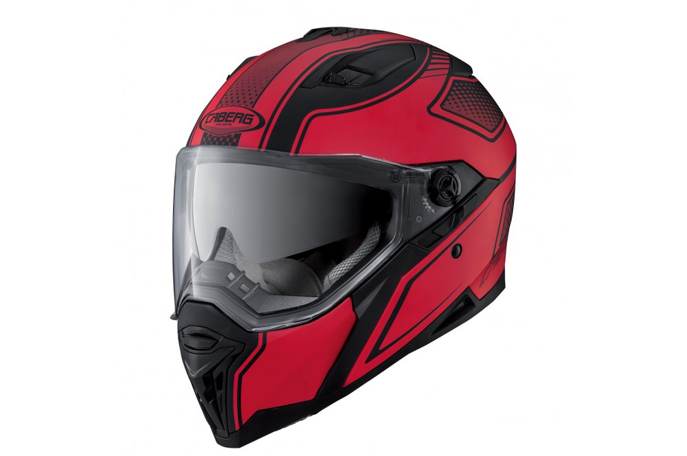 casque moto caberg stunt blade noir rouge street moto piece. Black Bedroom Furniture Sets. Home Design Ideas