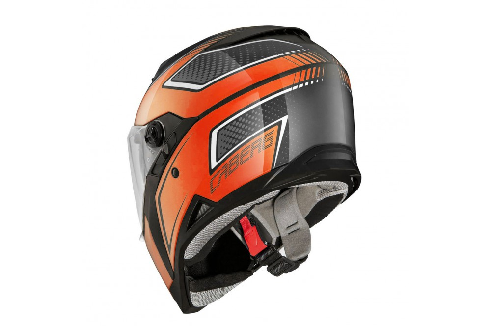 casque moto caberg stunt blade noir orange street moto piece. Black Bedroom Furniture Sets. Home Design Ideas