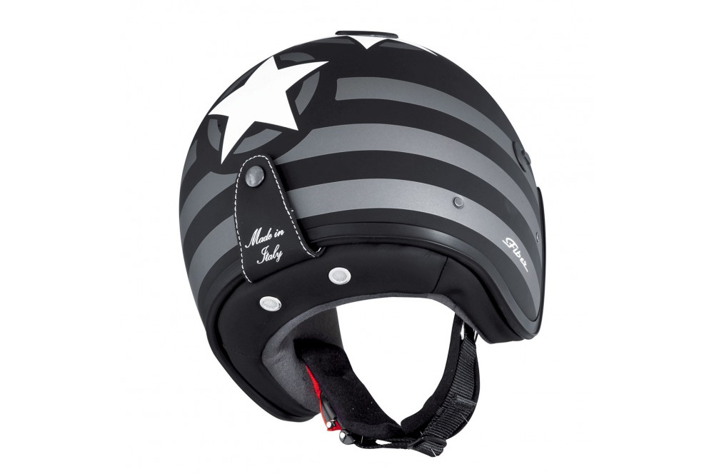 Casque Jet Caberg DOOM PATRIOT Noir - Blanc