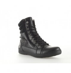 Bottines Moto 1964 SHOES CAFE RACER Noir