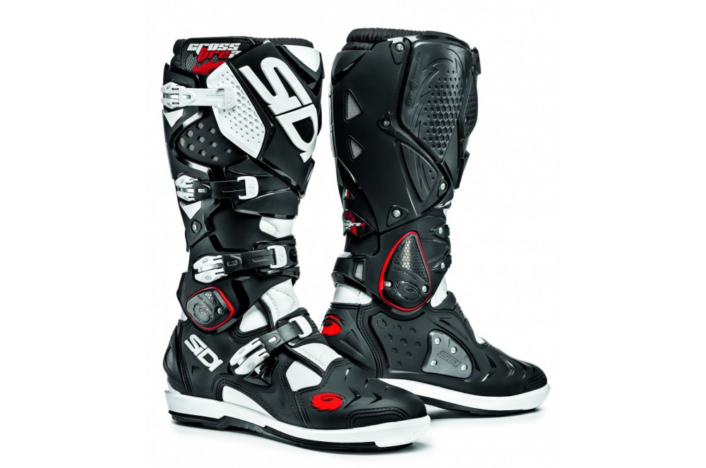 botte moto cross sidi crossfire 2 srs noir blanc street moto piece. Black Bedroom Furniture Sets. Home Design Ideas
