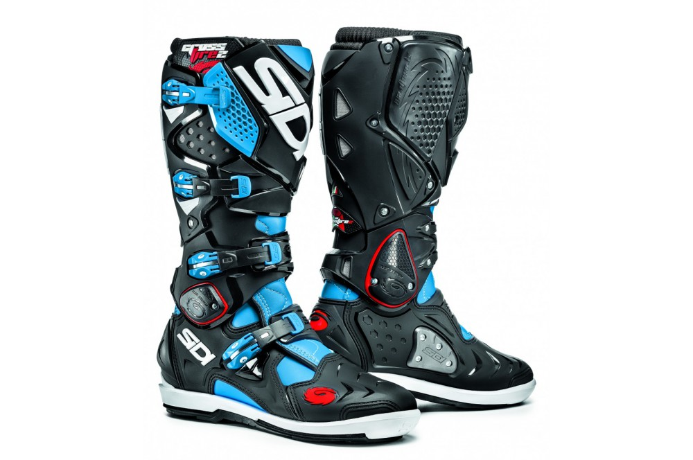 botte moto cross sidi crossfire 2 srs noir bleu street moto piece. Black Bedroom Furniture Sets. Home Design Ideas