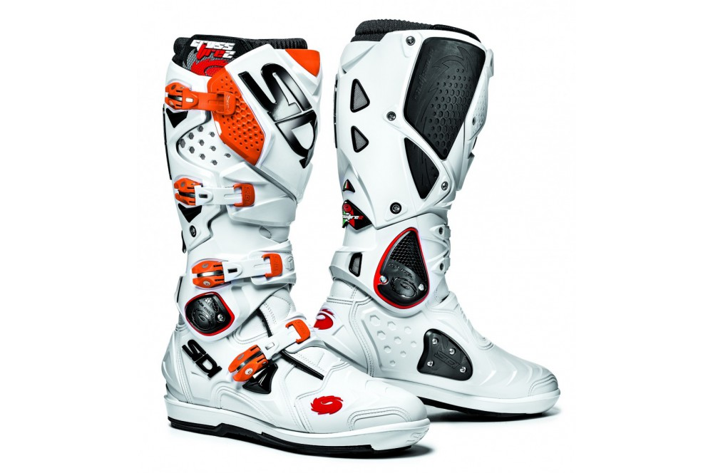 botte moto cross sidi crossfire 2 srs blanc orange street moto piece. Black Bedroom Furniture Sets. Home Design Ideas
