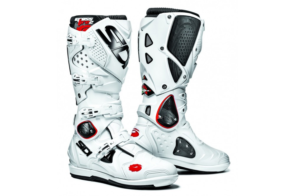 botte moto cross sidi crossfire 2 srs blanc street moto piece. Black Bedroom Furniture Sets. Home Design Ideas