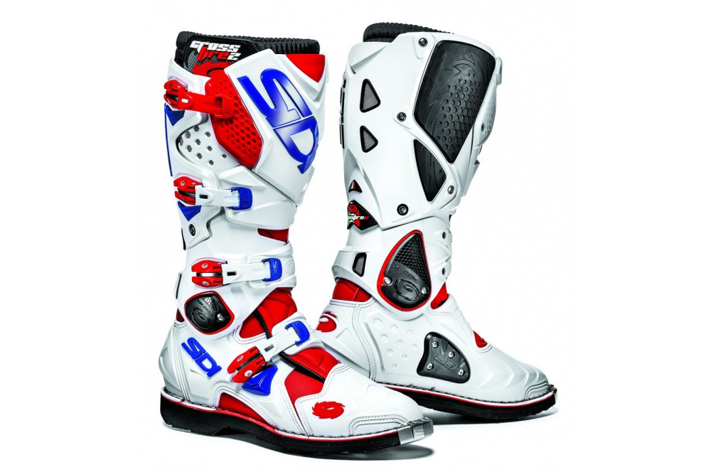 botte moto cross sidi crossfire 2 rouge blanc bleu street moto piece. Black Bedroom Furniture Sets. Home Design Ideas