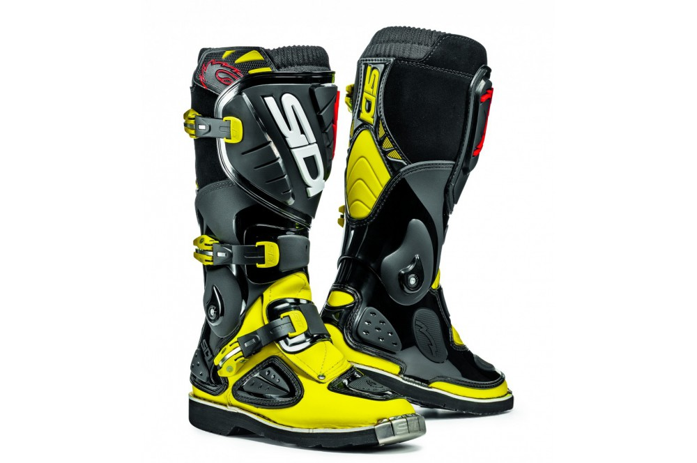 bottes moto cross enfant sidi stinger noir jaune. Black Bedroom Furniture Sets. Home Design Ideas