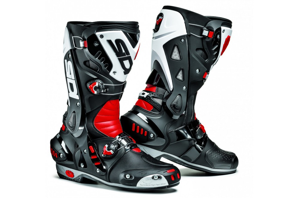 bottes moto racing sidi vortice noir blanc rouge street moto piece. Black Bedroom Furniture Sets. Home Design Ideas