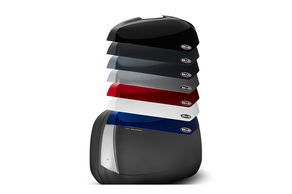 Valises Latéral Moto Shad SH43 Catadioptre blanc