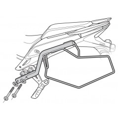 """Support sacoches latérales Shad """"Side Bag Holder"""" pour CB500 F et X (13-16), CBR500R (13-15)"""