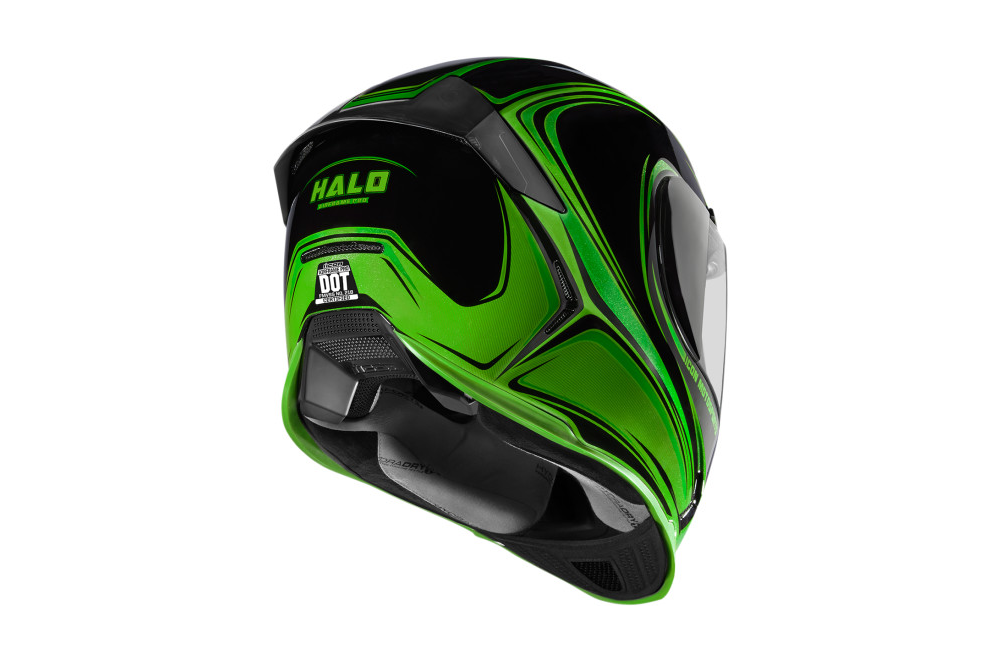 casque moto icon airframe pro halo noir vert street moto piece. Black Bedroom Furniture Sets. Home Design Ideas