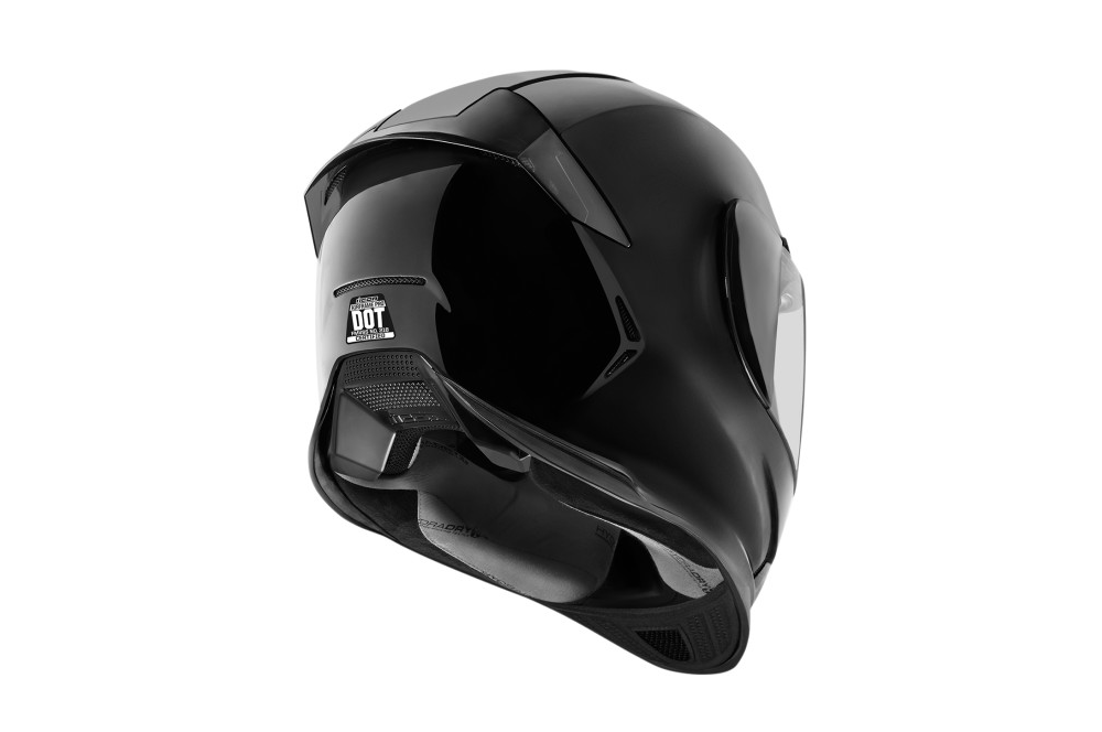 casque moto icon airframe pro gloss noir street moto piece. Black Bedroom Furniture Sets. Home Design Ideas