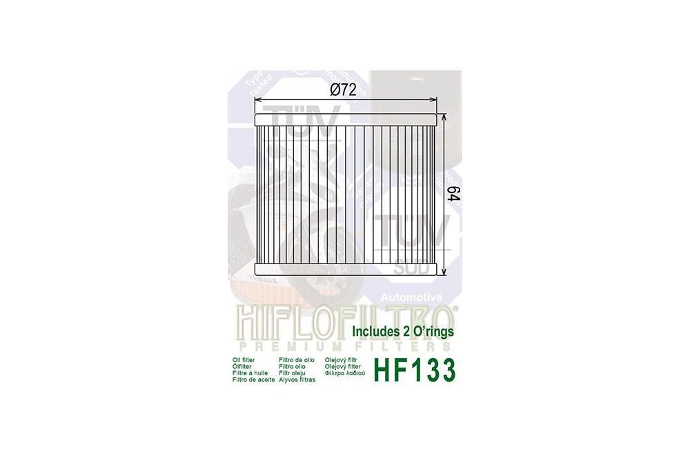 Filtre à huile Moto HF133