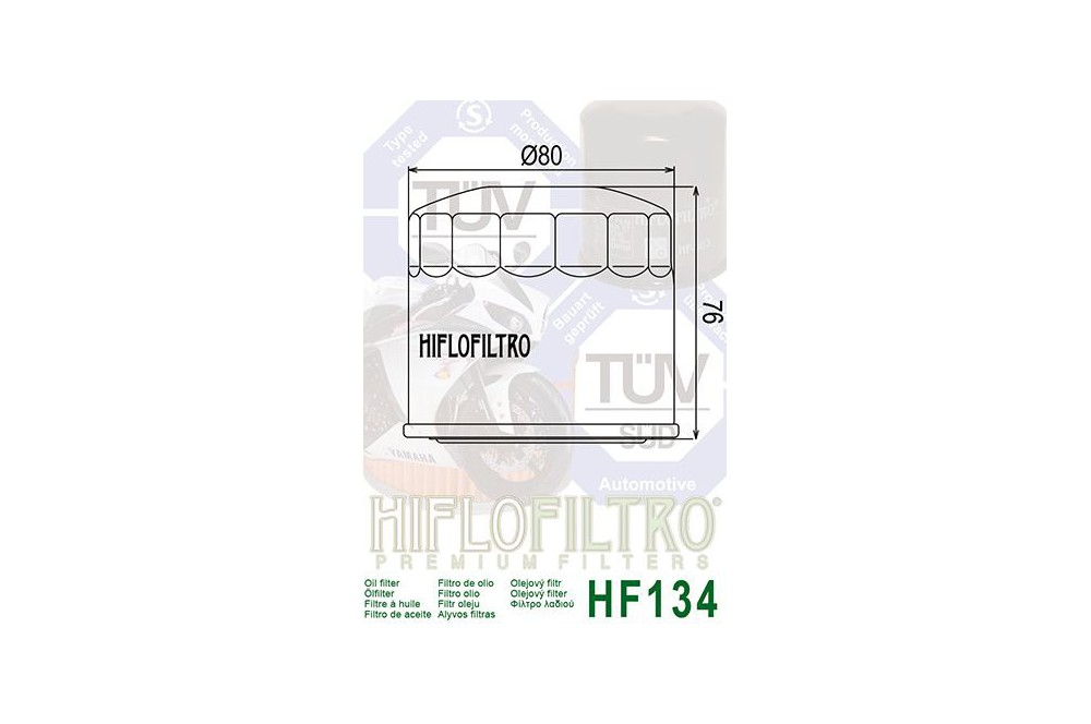 Filtre à Huile Moto HF134