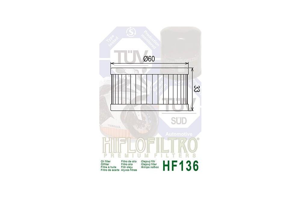 Filtre à Huile Moto HF136