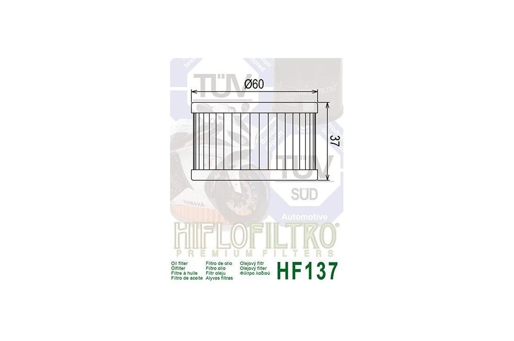 Filtre à huile Moto HF137