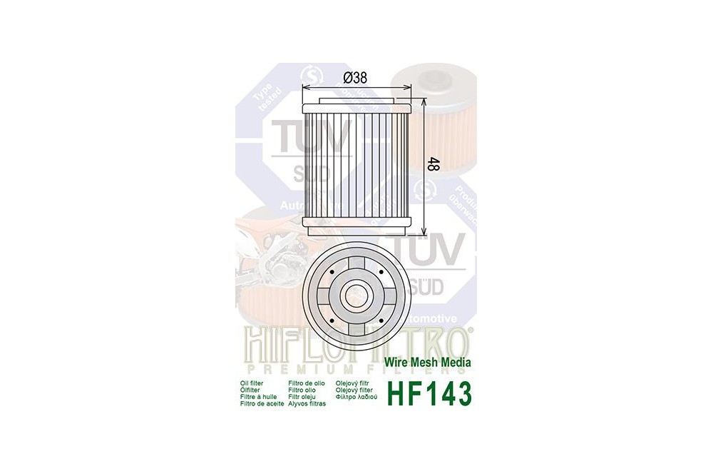 Filtre à Huile Moto HF143