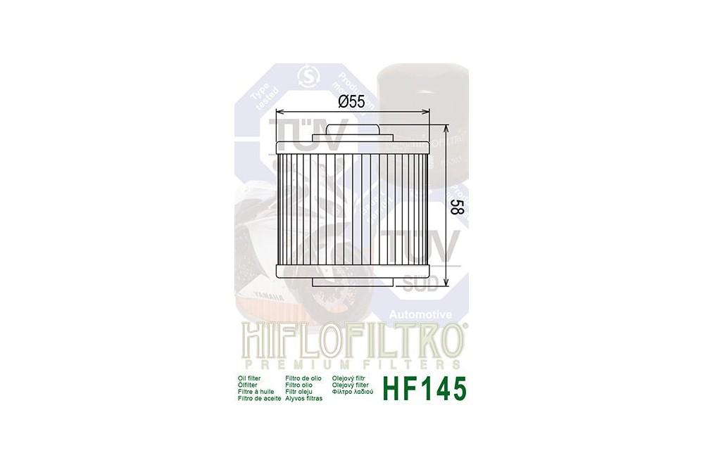 Filtre à Huile Moto HF145