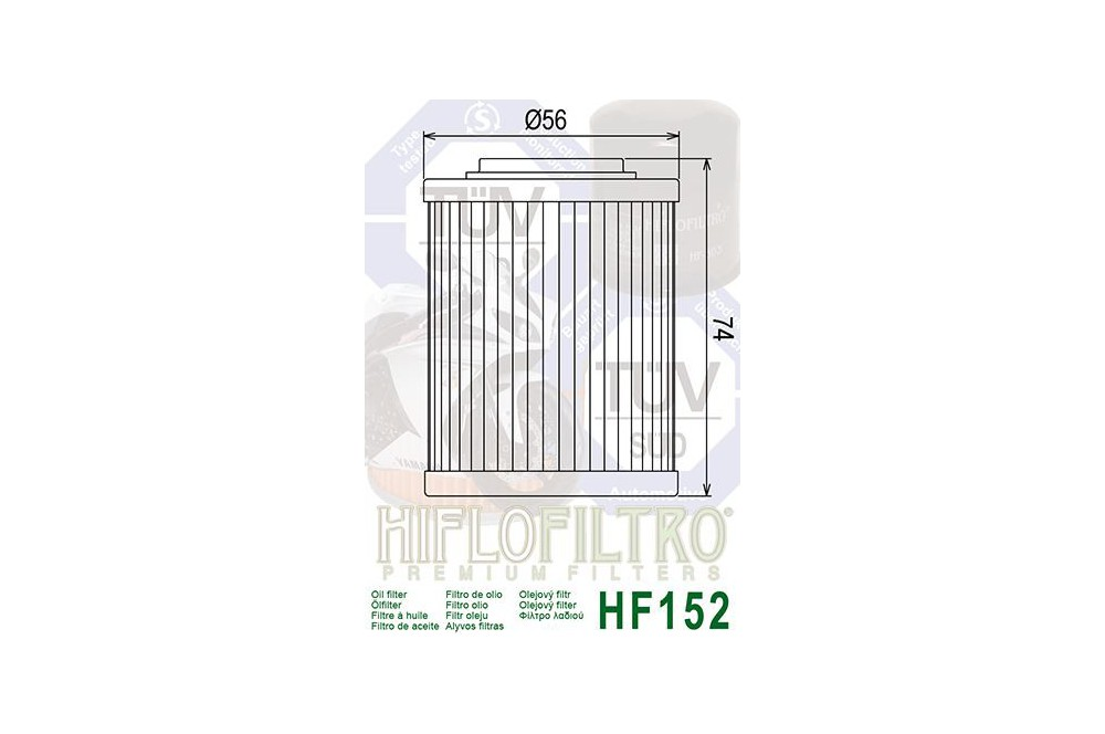 Filtre à Huile Moto HF152