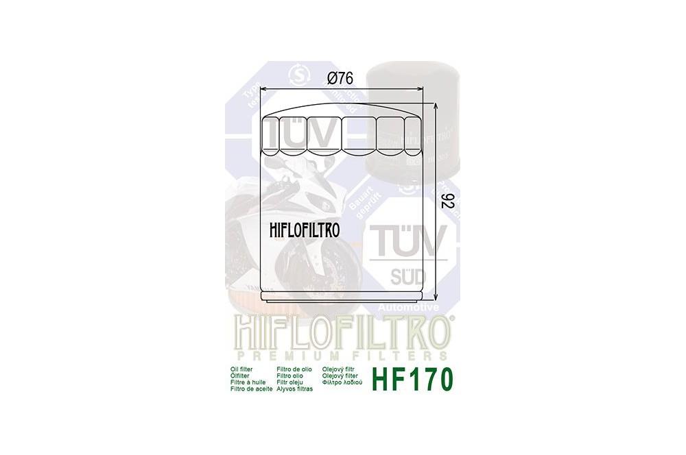 Filtre à Huile Moto HF170B